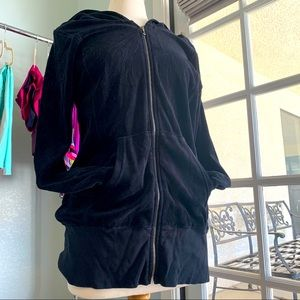 Juicy Couture extra long hooded velour zip up